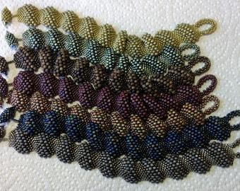Tutorial- Reptilian Ripple Bracelet, bracelet tutorial, beading tutorial