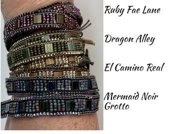 SUPPLY KIT ONLY- Cobblestone Bracelet, wrap bracelet kit, bracelet kit, beading kit