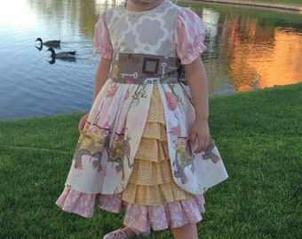 The Amelie Dress PDF Sewing Pattern Size 12 month - 8 Girls Toddler