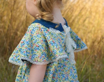 The Janie Dress & Tunic PDF Sewing Pattern Size 6 month - 12 year Girls Baby Toddler Tween