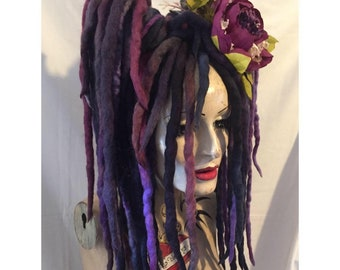 Romantic Amethyst blended Dreadlocks falls a MissNeedles exclusive design 2 x bunches of dreads goth hippy steampunk pixie fairy dread kit