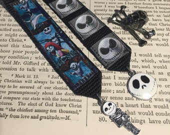 Handmade pin set of Medals Skeleton Nightmare movie character theme medals for goth spooky accessorising punk rock cute but scary emo ghost
