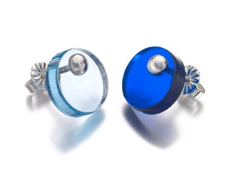 Silver Interchangeable Perspex Earrings : BOB Collection