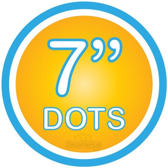 7 inch Polka Dot Circles Wall Decals