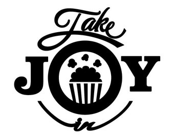Take Joy In Popcorn Decal