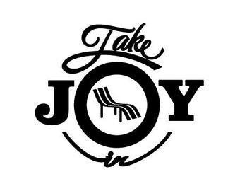 Take Joy In Beach Chair Decal