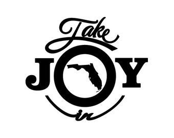 Take Joy In Florida Decal