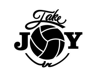 Take Joy In Volleyball Decal