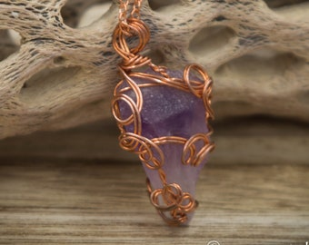 Rough Amethyst Wire Wrapped