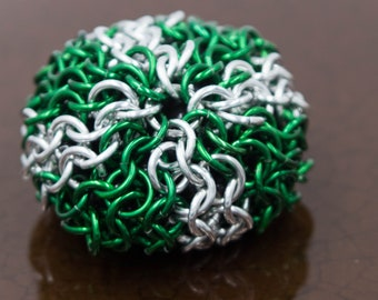 Slytherin Colors Chainmaille Hacky Sack