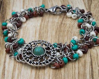 Chainmaille Concho Bracelet