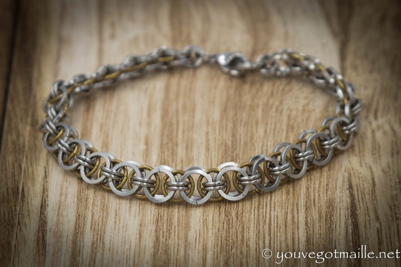 Delicate Helm Weave Chainmaille Bracelet image 0