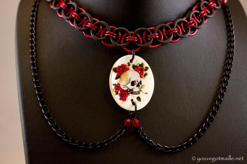 Helm Weave Skull Necklace image 0