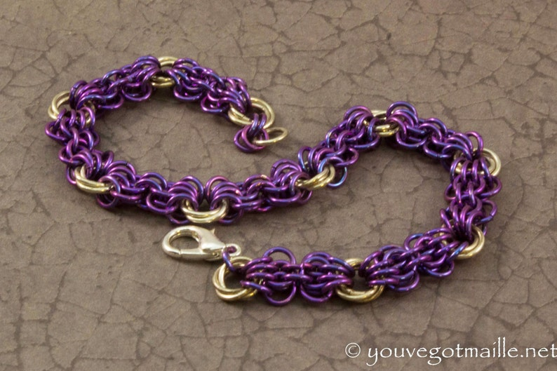 So Purple Iridescent Chainmaille Bracelet image 0