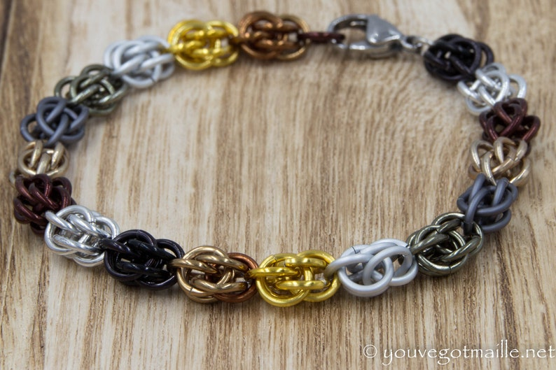 Maester's Chain Chainmaille Bracelet image 0