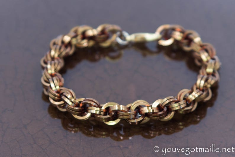 Double Spiral Chainmaille Unisex Bracelet image 0
