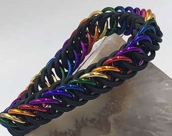 Rainbow Pride Stretchy Persian Bracelet
