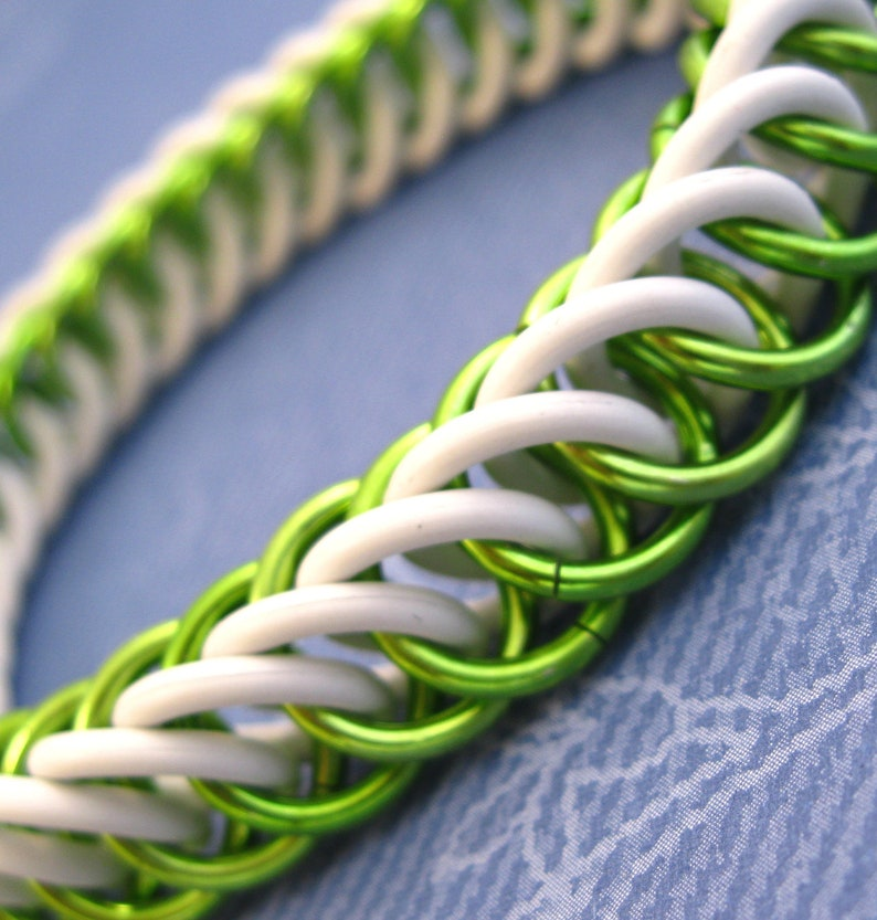 Electric Lime Green Stretchy Chainmaille Bracelet image 0