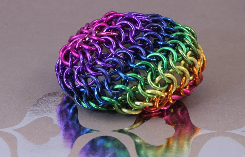 Rainbow Chainmaille Hacky Sack image 0