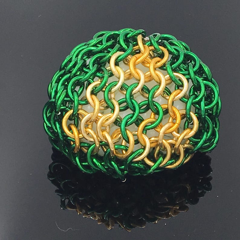 Triforce Chainmaille Hacky Sack image 0