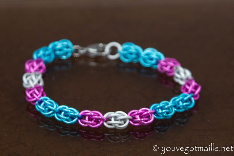 Trans Pride Chainmaille Bracelet image 0