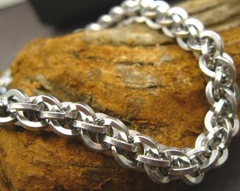 Blink - Bright Aluminum JPL Chainmaille Bracelet