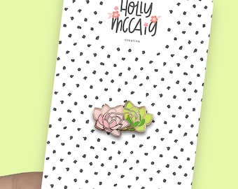 Succulent Enamel Pin for Plant Lovers