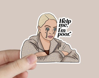 Erika Jayne Sticker   Real Housewives Sticker   Real Housewives of Beverly Hills