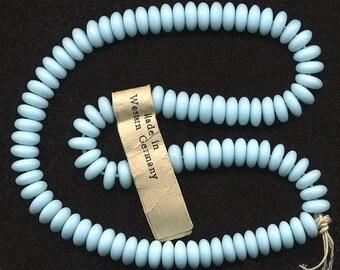 50 German 70s plastic beads white matt 14 mm