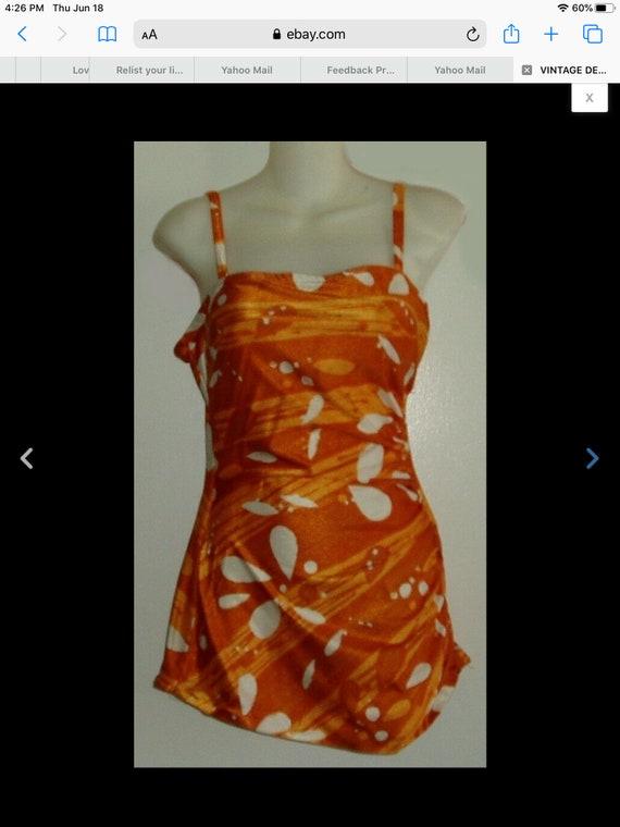 Vintage Tom Brigance Swimsuit with Matching Slit … - image 2