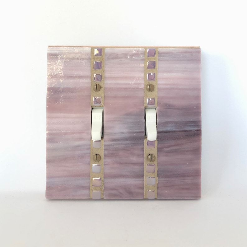 Lavender Switchplate Light Switch Cover Stained Glass image 0