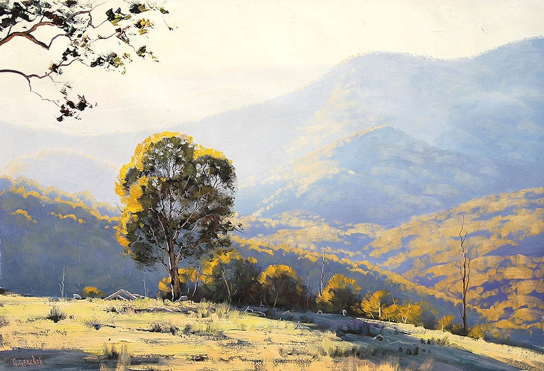 LARGE LANDSCAPE PAINTING Listed Artist Original Oil Painting image 0