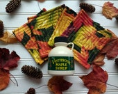 Vermont Maple Gift Set - Quilted Coasters & Maple Syrup