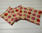 Fresh Berries Quilted Coasters