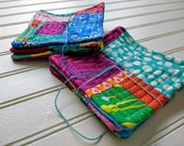 Rainbow Patchwork Quilted Coasters
