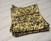Olive Quilted Coasters