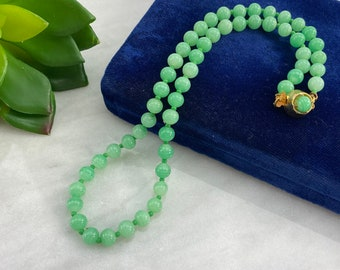 clear Light green and black glass necklace