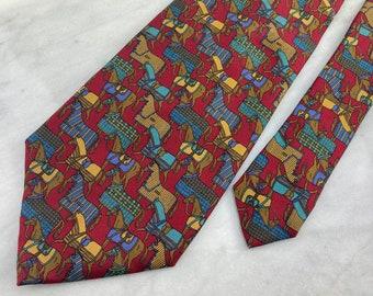 Copper Necktie Vintage Kenneth Cole Reaction Necktie Menswear Necktie 100/% Silk Checkered Blue Vintage Gift Item Black Silver