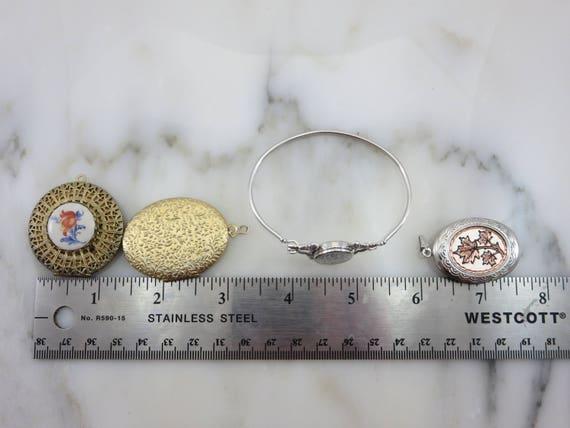 Lockets - Pendants and Bracelet Lot, Gold Silver … - image 2