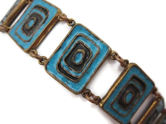 Brutalist Jewelry - Mid Century Enamel Brutalist B