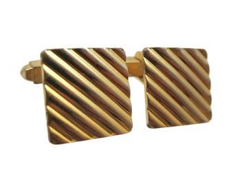 Mid Century Cufflinks - Gold Plated