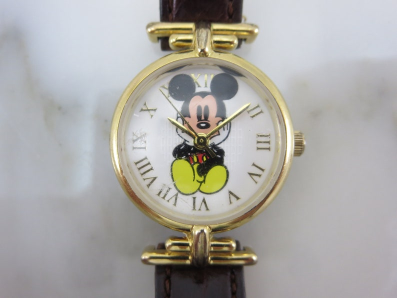 Mickey Mouse Watch Value >> Mickey Mouse Watch Vintage Disney Store Exclusive Sitting Etsy