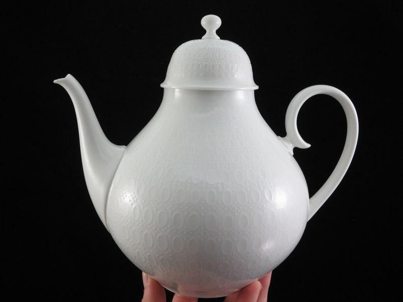 Large Porcelain Tea Pot Rosenthal Romance White Teapot