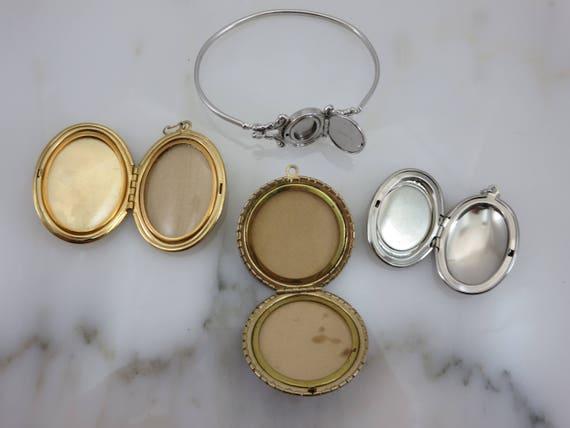 Lockets - Pendants and Bracelet Lot, Gold Silver … - image 8