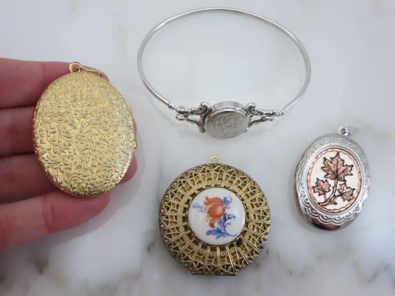 Lockets - Pendants and Bracelet Lot, Gold Silver … - image 6