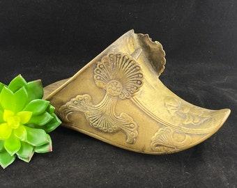 Vintage Spanish Conquistador Brass Stirrup - Brass Boot Cover, Home Decor, Equestrian Decor