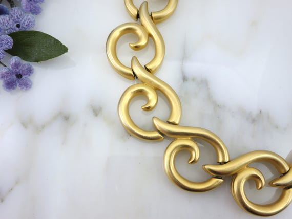 Gold Givenchy Necklace - Chunky Gold Chain Necklac