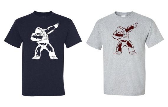 f9cb536f2 Dabbing Bigfoot Sasquatch Yeti Tee Navy or Grey t-shirt   Etsy