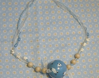 Hand Painted Counting Sheep Necklace