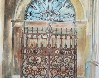 Italian Doorway - Original Painting